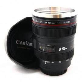 Tazza a forma di obiettivo Canon EF 24-105mm con Paraluce