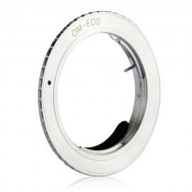 Anello adattatore obiettivi Olympus OM su Canon EOS con Chip AF