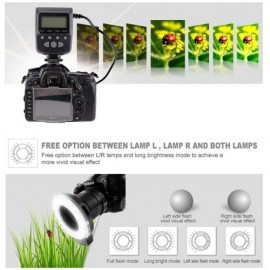 Flash Anulare 18 LED Meike FC110 per Macro Canon Nikon Olympus