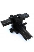 Slitta Micrometrica per MACROFOTOGRAFIA a 4 direzioni in metallo