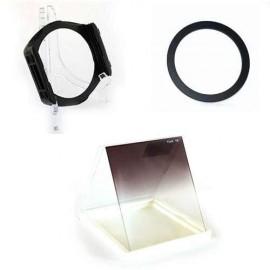 Kit portafiltri lastrina con anello + filtro a lastra blu