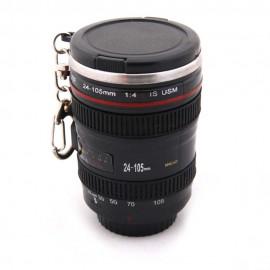 Tazza a forma di obiettivo Canon EF 18-55mm con manico