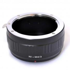 Anello adattatore obiettivi Nikon F su Micro 4:3