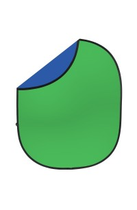 Fondale ChromaKey Verde e Blu 150cm x 200cm Green Screen Pieghevole DoubleFace