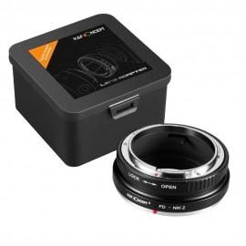 Anello adattatore obiettivi Canon FD su Nikon Z Z6 Z7