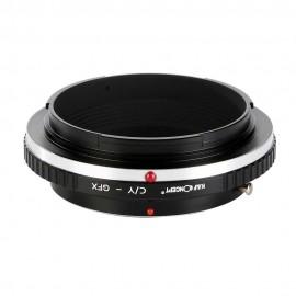 Anello adattatore obiettivi Contax Yashica su Fuji GFX Fujifilm