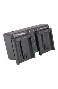 Patona Caricabatterie doppio MH26 per EN-EL18 EN-EL4 LP-E4 BA-T10 BA-T20