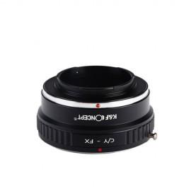 Anello adattatore obiettivi Contax Yashica su Mirrorless Fujifilm Fuji X