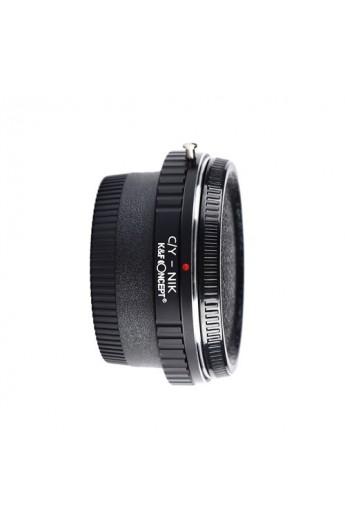 Anello adattatore obiettivi Contax Yashica su Nikon con vetro ottico