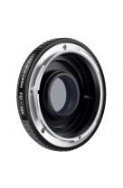 Anello adattatore obiettivi Canon FD su Nikon con vetro ottico