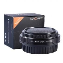 Anello adattatore K&F per obiettivi Canon FD su Canon EOS con vetro ottico