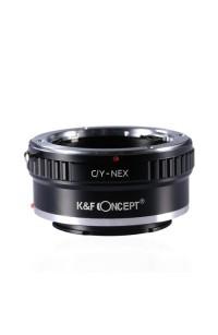 Anello adattatore K&F per obiettivi Contax Yashica su Mirrorless Sony NEX