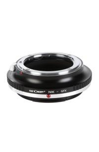 Anello adattatore obiettivi Nikon F su Fuji GFX Fujifilm