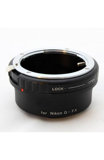 Anello adattatore obiettivi Nikon G su Mirrorless Fujifilm Fuji X