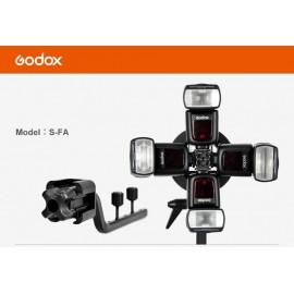Godox S-FA Adattatore per il montaggio fino a 4 flash