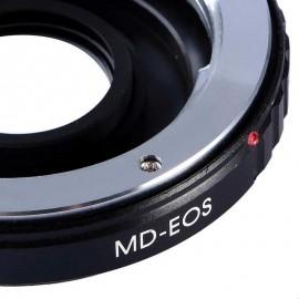 Anello adattatore per obiettivi Minolta MD su Canon EOS con vetro ottico