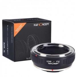 Anello adattatore K&F per obiettivi Konica AR su Fuji X Fujifilm
