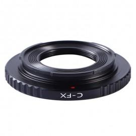Anello adattatore K&F per obiettivi Cinema C-Mount su Fuji X Fujifilm