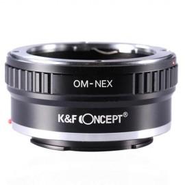 Anello adattatore K&F per obiettivi Olympus OM su Sony E mount Nex