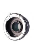 Anello adattatore obiettivi Pentax K su Nikon con vetro ottico