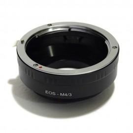 Anelllo adattatore obiettivi Canon EOS EOS EF su micro 4:3