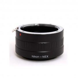 Anello adattatore obiettivi Nikon F su Mirrorless Sony NEX