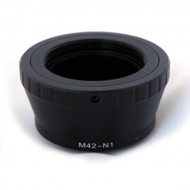 Anello adattatore obiettivi a vite M42 su Mirrorless Nikon1