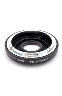 Anello adattatore obiettivi Canon FD su Sony Alpha con vetro ottico