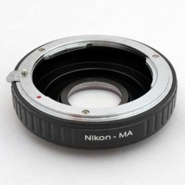 Anello adattatore obiettivi Nikon su Sony Alpha con vetro ottico