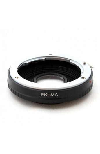 Anello adattatore obiettivi Pentax K su Sony Alpha con vetro ottico