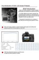 Protezione Schermo LCD in VETRO OTTICO x Canon EOS 1D Mark IV superiore Pellicola