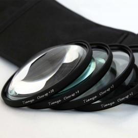 Kit Filtri Macro 77mm +1 +2 +4 +10 Diottrie TianYa HD per Reflex e Fotocamere Digitali