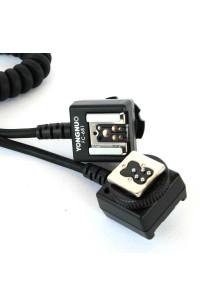Cavo per Flash Canon Ettl 2,8 Mt Comp. EC-E3 DUAL HOTSHOE