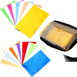 Kit 12 gelatine colorate per flash esterno con supporto
