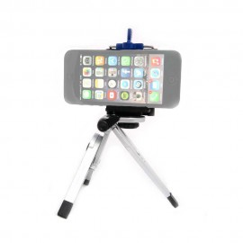 Kit supporto per smartphone con mini cavalletto Silver